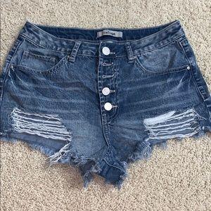 jean shorts w/ rips
